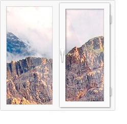 Двухстворчатые окна