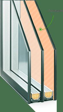 Энергосберегающий стеклопакет для ПВХ окна