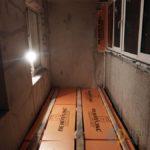 Пеноплекс на пол балкона