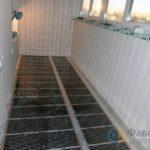 Инфракрасный пол балкон
