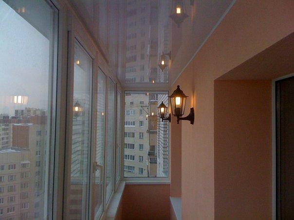 Балкон штукатуркой