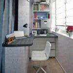 Комната-офис на балконе