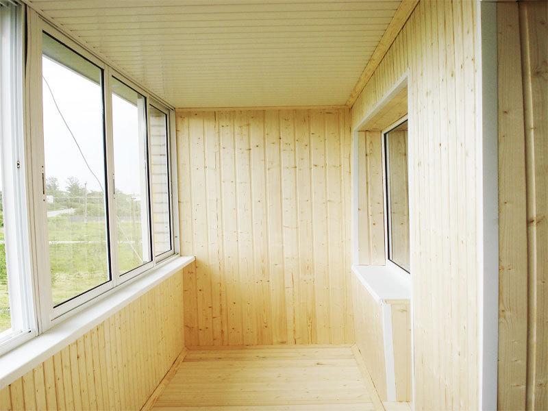 Материалы для отделки балкона - вагонка