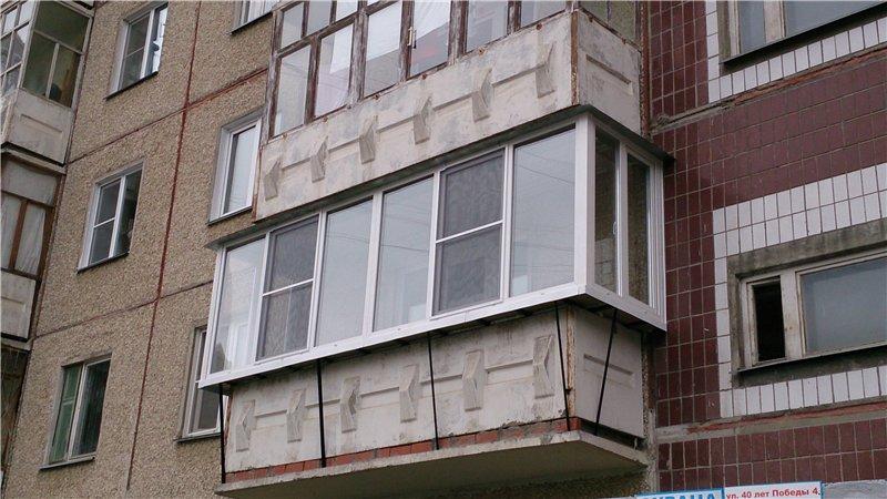 Остекление балконов 97 серии в панельном доме