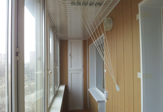 Отделка балкона под ключ