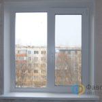 Двустворчатое окно с установкой