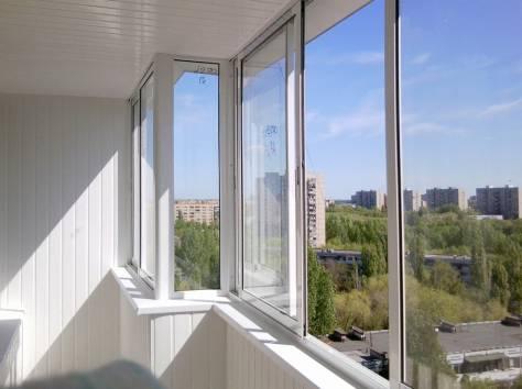 Остекление теплого балкона под ключ