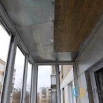 Обшивка балкона сверху
